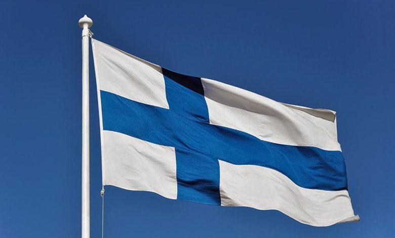 عکس پرچم کشور فنلاند