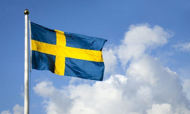 عکس پرچم کشور سوئد